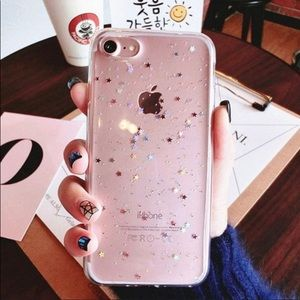 Star sparkle iPhone case for 7+ or 8+  nwot